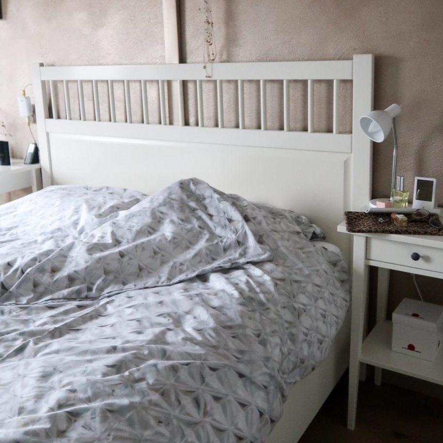 Dekbed, overtrek, 100% Percel, badjas, grijs, glass, at home with Marieke, review, bed, BeautySome, Etrias, bedsupply,