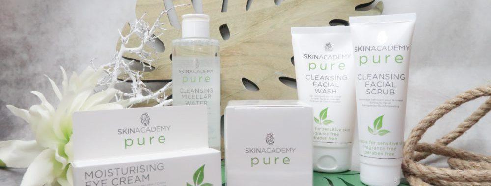 Skinacademy, pure, aloë Vera, groene, thee, Etos, reiniging, scrub, micellair, dagcrème, oogcrème, Beautysome