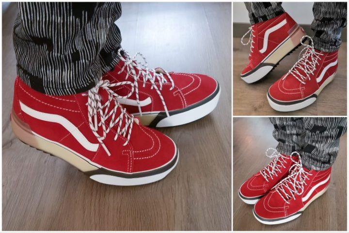 VANS SK8-Hi Stacked, vans, sneaker, rood, fashion, mode, 50 plus, plateau, zool, rood, mode, blog