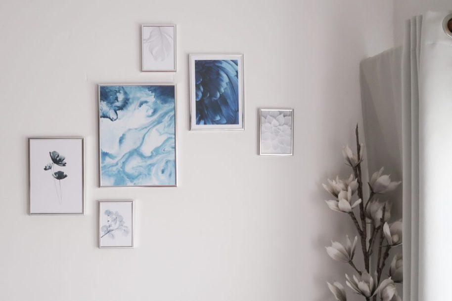 Posters, posterstore, foto, poster, lijsten, inlijsten, lifestyle, blauw, thema, veren, steen, agaat, marble, beautysome