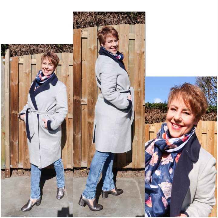 Expresso, mantel, jas, Brenda, grijs, wol, lang, fashion, mode, 50 plus, beautysome