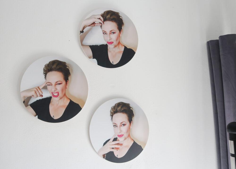 Foto op wandcirkel | Maak eens een cirkel fotocollage