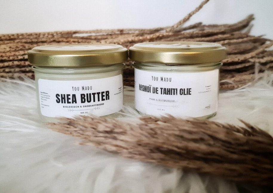 You made, Shea butter, monoï, olie, huid, verzorging, droge, natuurlijk, verzorging