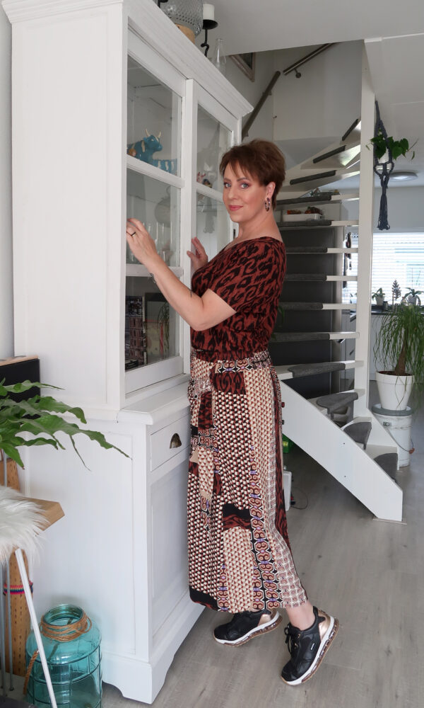 Tramontana, rok, shirt, mode, 50, plusser, fashion, blog, look, beauty, print, bruin, animal, beautysome, yustsome, 9
