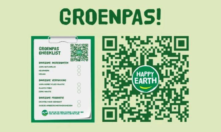 groenpas, happy earth, scan, checklist, aarde, groen, vega, natuurlijk, deo, shower, soap, handzeep, douchen, milieu, vriendelijk, 2