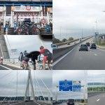 2016年7月 フランス「印象派とグルメの旅」 3-1章:セーヌ川河口にかかるノルマンディ大橋を渡る