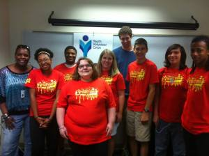 Youth on a project with YVC of Racine County last summer