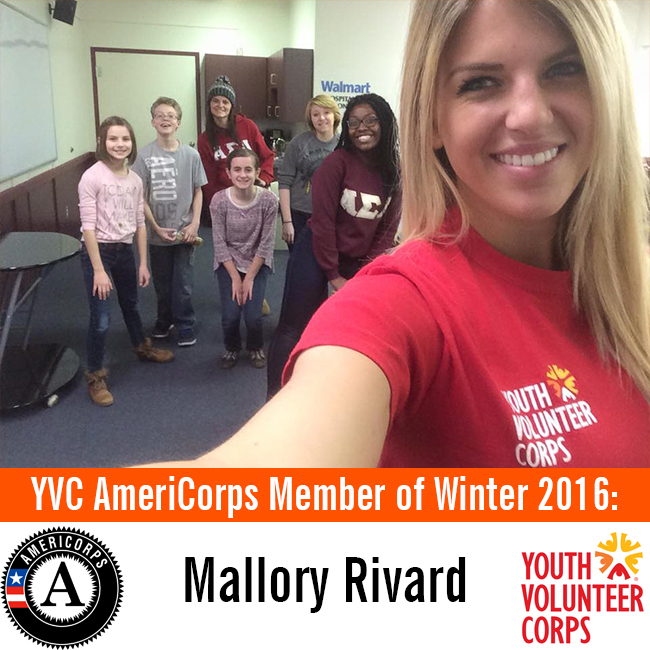 3.14.16 YVC AmeriCorps Member of Winter 2016 - Mallory Rivard