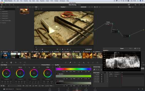 Interface Etalonnage Da Vinci Resolve 15