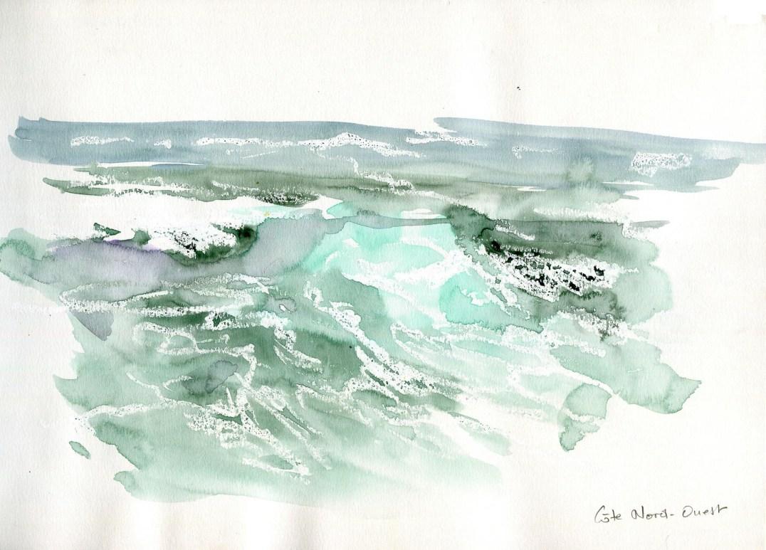 Inis More. Vagues au pied des falaises