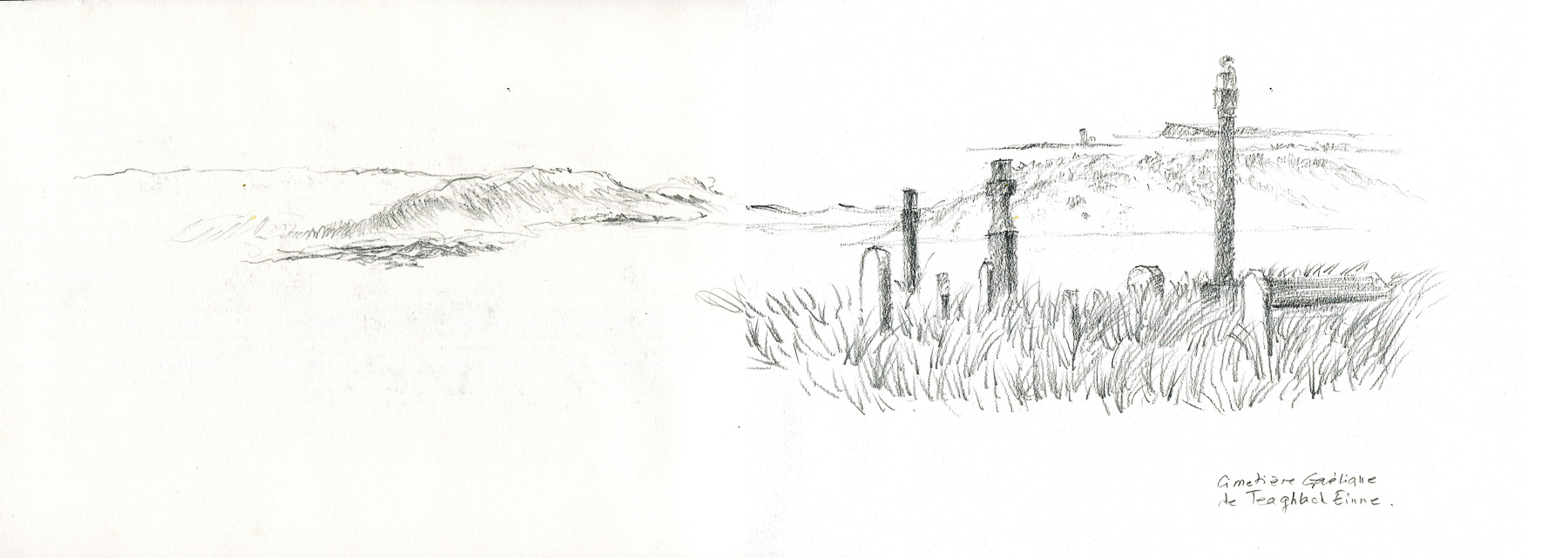 Cimetière gaélique sur Inis More