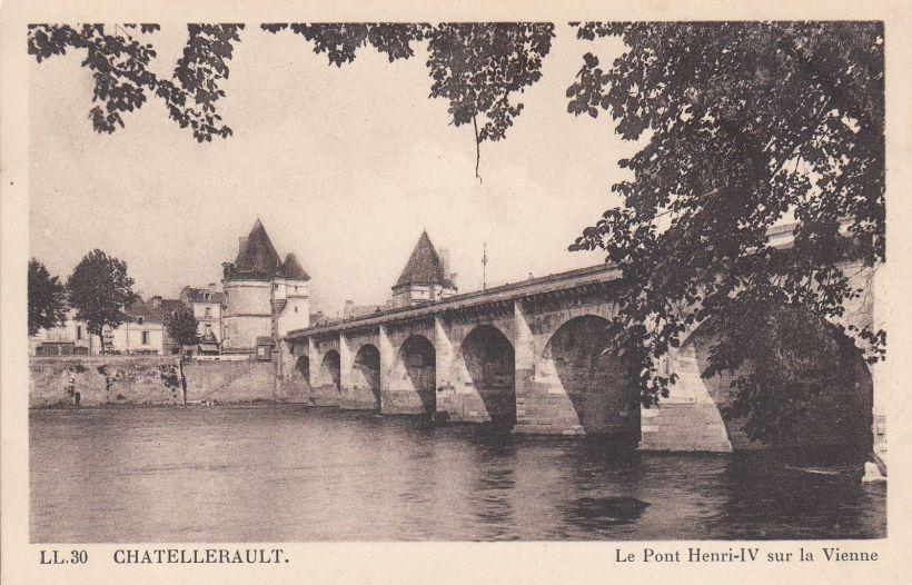 Carte-Postale-Chatellerault-Le-Pont