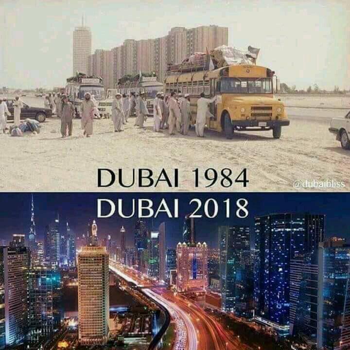 Dubai de 1984 à 2018