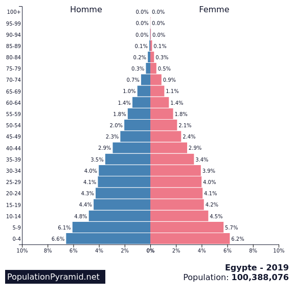 pyramide des ages egypte 2019
