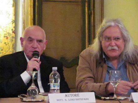 L'autore Salvatore Luigi Distefano con l'editore Armando Siciliano