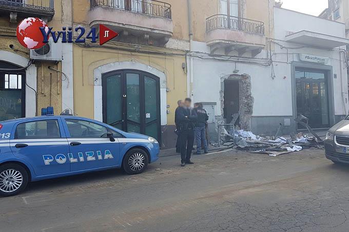 Adrano, 52enne licodiese in manette per il tentato furto del bancomat al Banco Popolare Siciliano