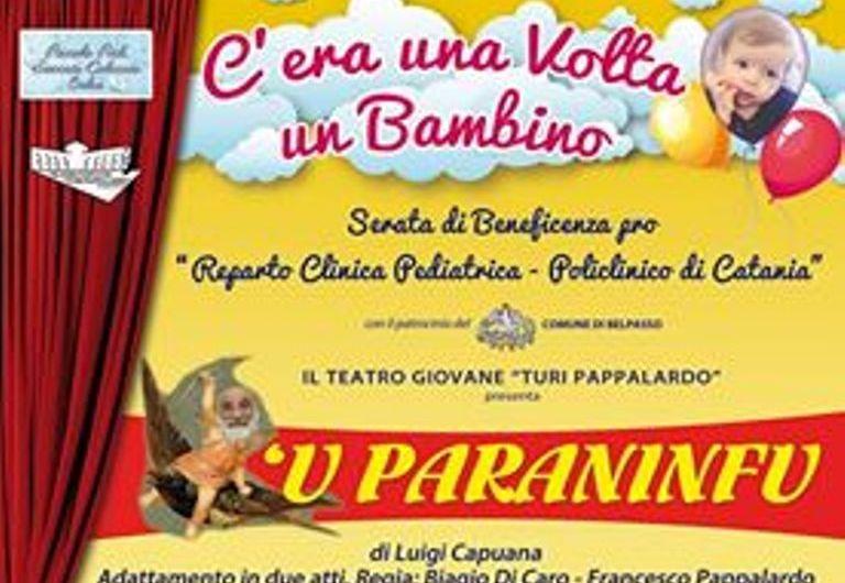 "Belpasso, ""'U paraninfu"" a teatro per una serata di beneficienza"