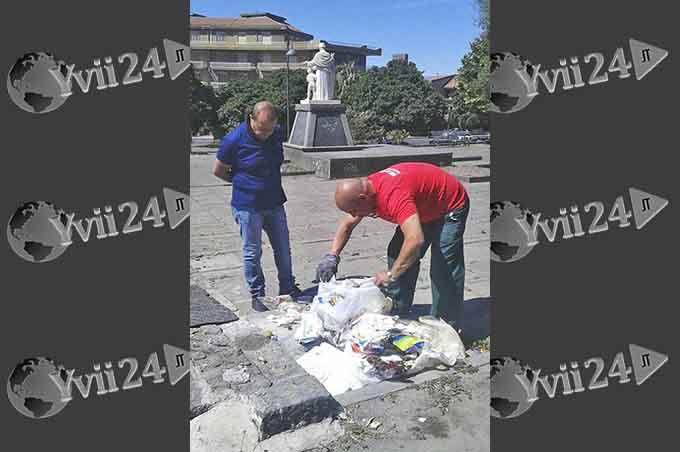 """Biancavilla, operazione """"sporcaccioni"""": 11 multe per i rifiuti abbandonati in strada"""