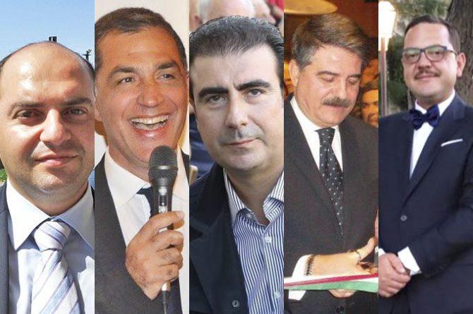 Da sinistra: Giuseppe Zitelli, Antonello Sinatra, Giuseppe Furnari, Mimmo Galvagno, Tuccio Aiosa