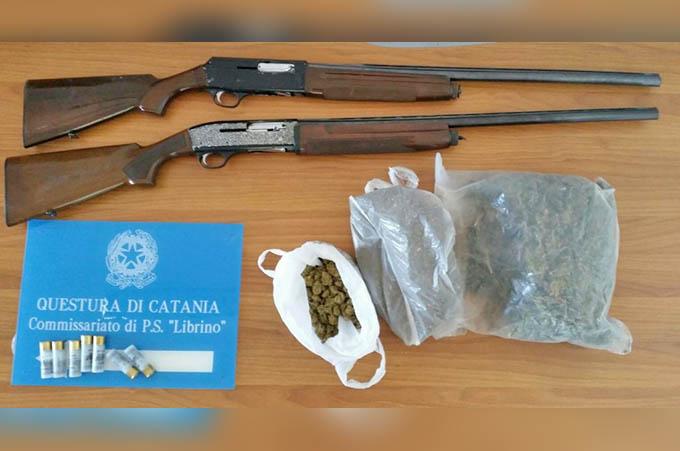 Catania, sequestrate armi e droga a Librino