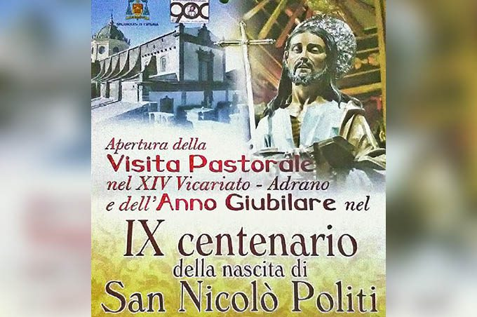 Adrano, con l'arcivescovo Gristina si apre oggi l'anno giubilare per i 900 anni dalla nascita di san Nicolò Politi