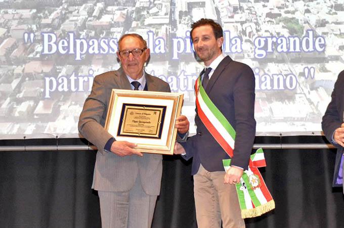 Belpasso, conferita la Civica benemerenza a Pippo Spampinato