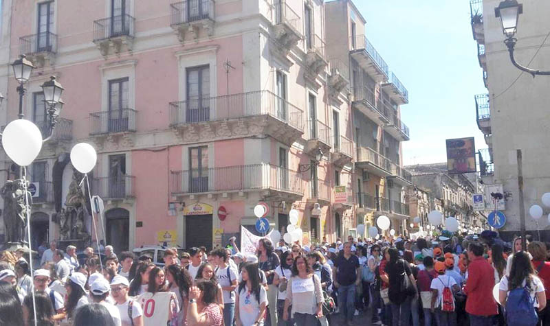 Paternò, marcia della legalità nel nome di Falcone e Borsellino