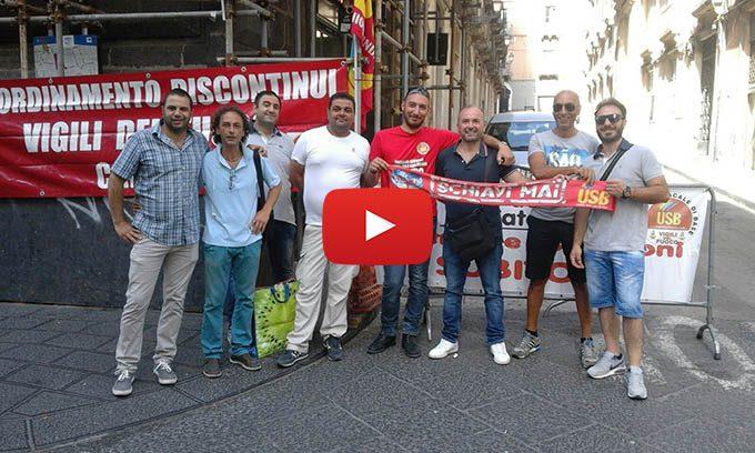 Catania, protesta e incontro in Prefettura per l'Usb Vigili del Fuoco