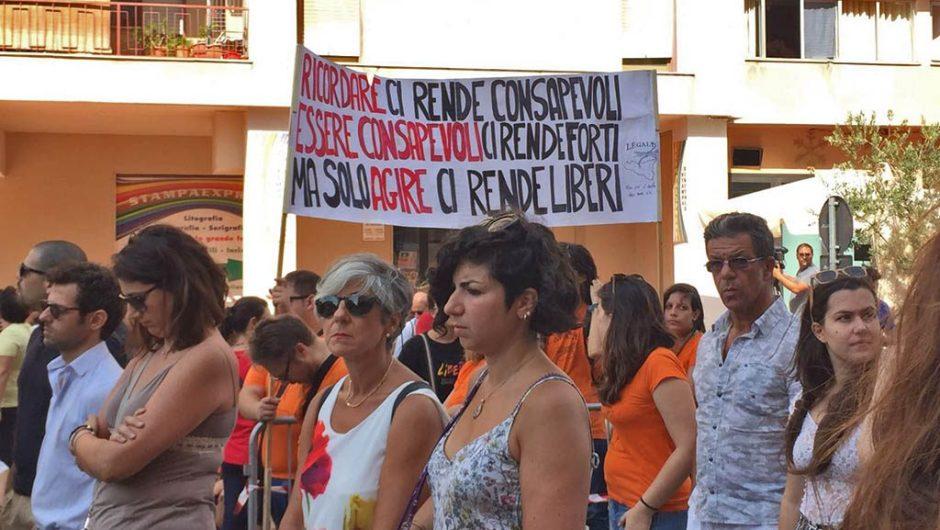 A Palermo il ricordo di Paolo Borsellino e della sua scorta, nel 25° della strage di via D'Amelio