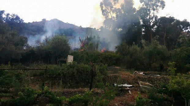 Francavilla, decine di ettari di terreno in fumo