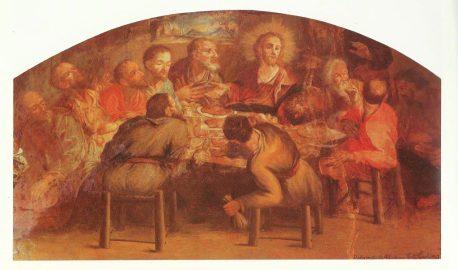 L'affresco dell'Ultima cena nel refettorio del convento