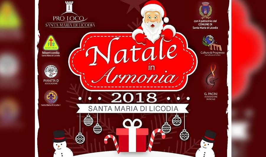 """Santa Maria di Licodia. Al via """"Natale in armonia 2018"""""""