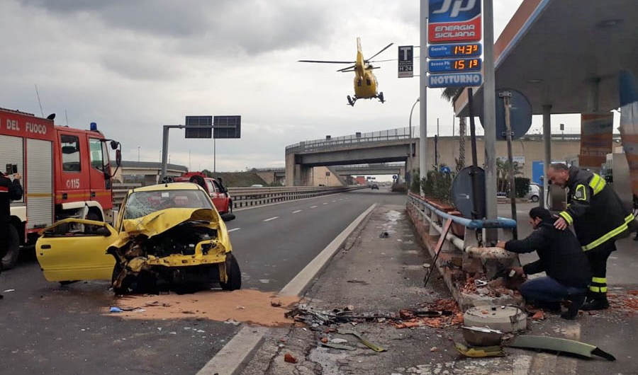 Grave incidente sulla statale 121, atterra l'elisoccorso
