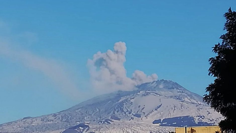 Etna, terremoto ed attività sommitale. Nube di cenere ricade nel versante occidentale