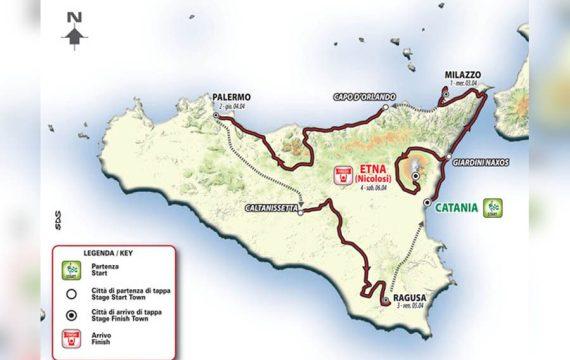 """Ciclismo. Al via alle 12:15 da Catania il """"Giro di Sicilia"""""""