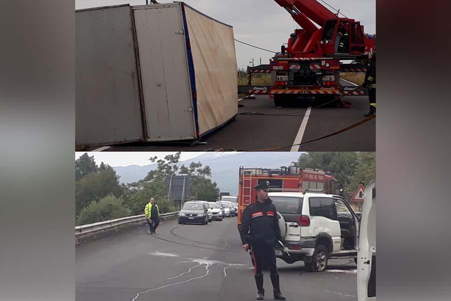 Incidenti. Due mezzi ribaltati sulla Ss 121 e sulla Ss 284