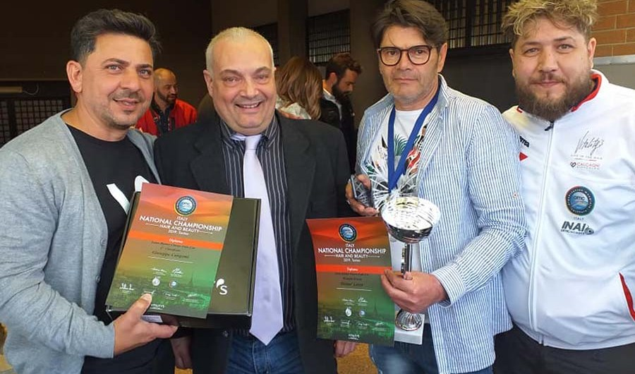 """Torino. Successo per i barber Cangemi e Lanza al """"National championship hair e beauty"""""""