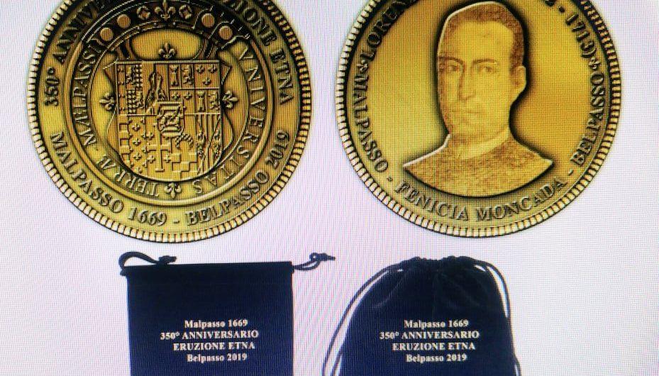 Belpasso. Una moneta per i 350 anni dalla ricostruzione post-eruzione 1669