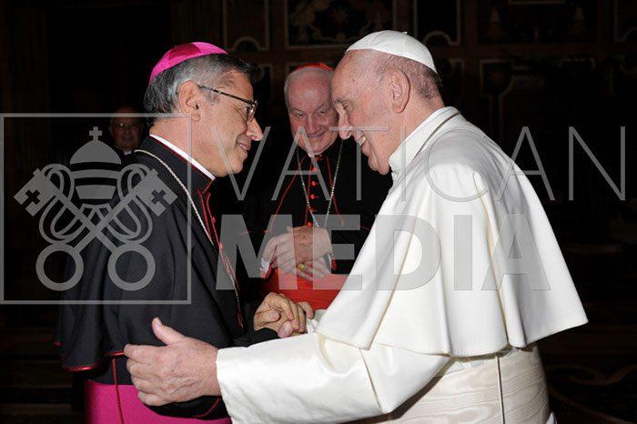Roma. Mons. Giuseppe Schillaci ha incontrato Papa Francesco