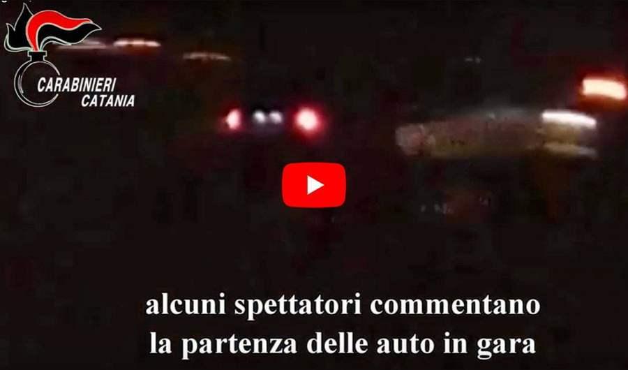 Palagonia, corsa clandestina fra auto: due denunce (VIDEO DELLA CORSA)