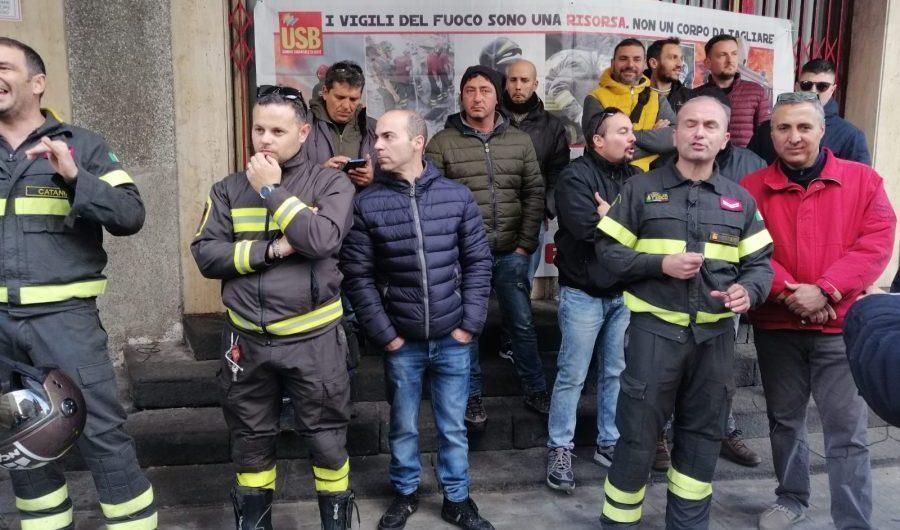 Vigili del Fuoco. Adesione massiccia allo sciopero di ieri