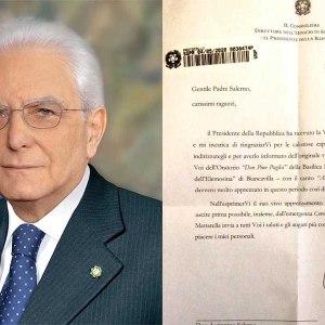 """Biancavilla. Mattarella scrive a Don Pino Salerno e ai giovani dell'oratorio """"Don Pino Puglisi"""""""