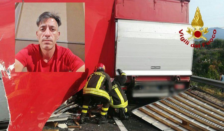 L'incidente sulla statale 284: morto il camionista adranita Orazio Corsaro