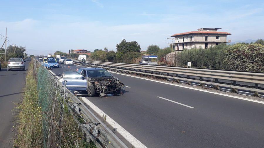 Ss121. Incidente autonomo nei pressi di Palazzolo