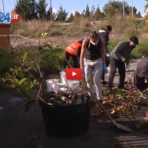 Adrano. Associazioni e cittadini bonificano il perimetro dello stadio dai rifiuti
