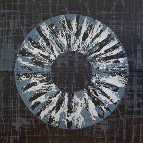 Yvonne Behnke acrylic painting iris