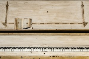 Wooden piano