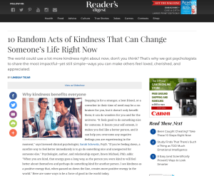 Dr. Thomas Featured on Reader's Digest