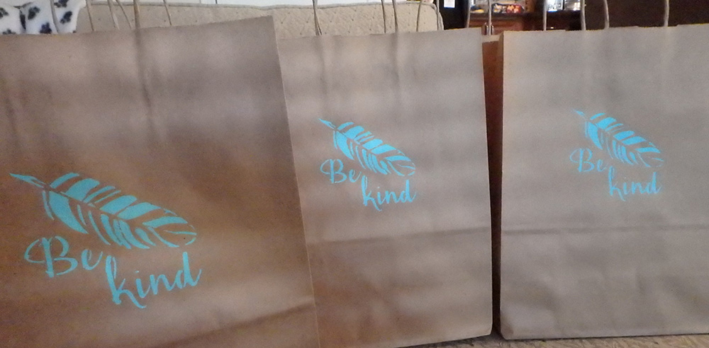 Gift bags donated by an anonymous donor.