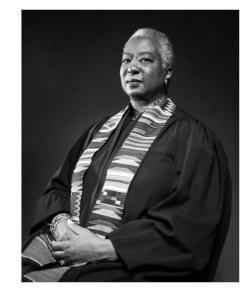 Black-and-white photo of Judge Pamela Alexander
